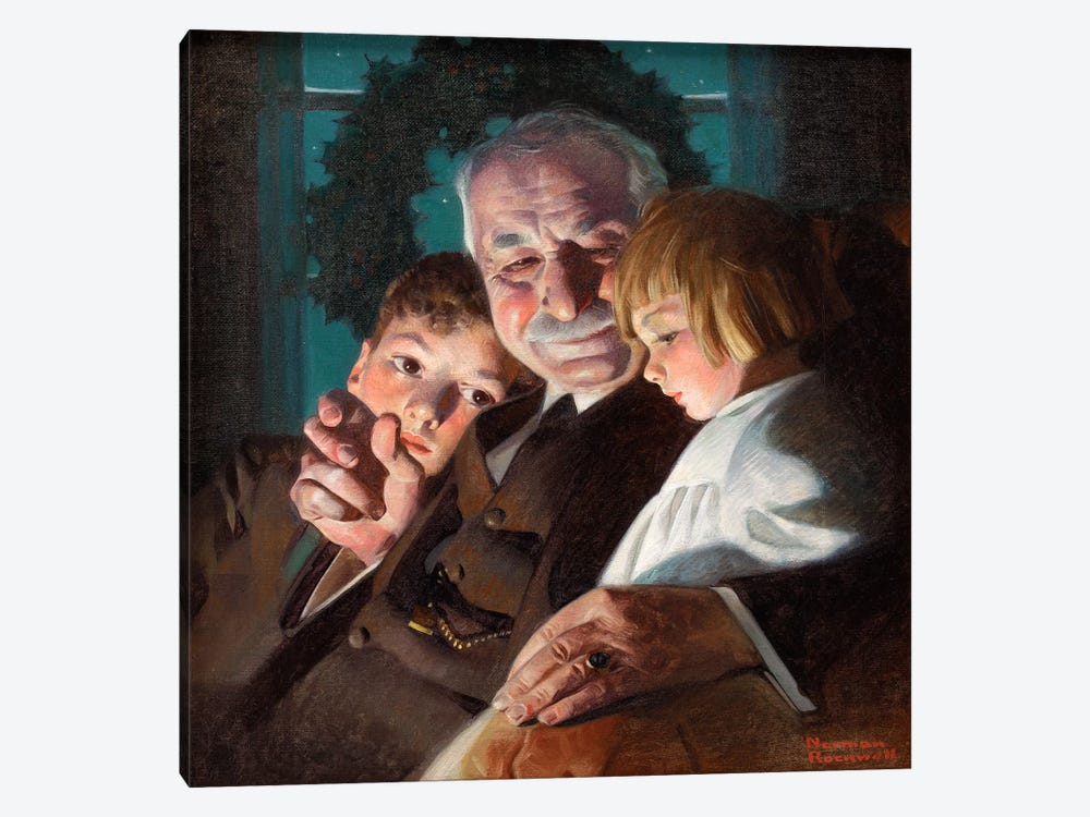 The Story of Christmas by Norman Rockwell 1-piece Art Print