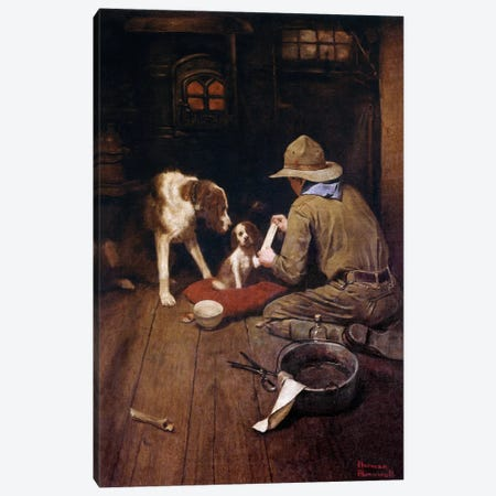 A Scout is Kind       Canvas Print #NRL11} by Norman Rockwell Canvas Art Print