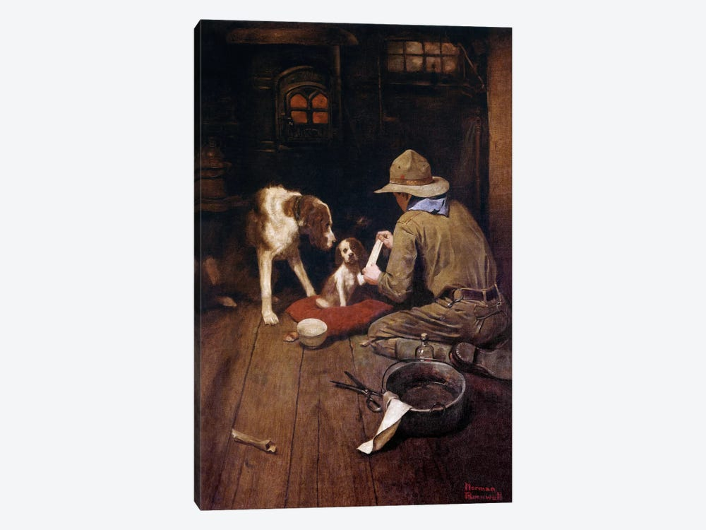 A Scout is Kind by Norman Rockwell 1-piece Art Print