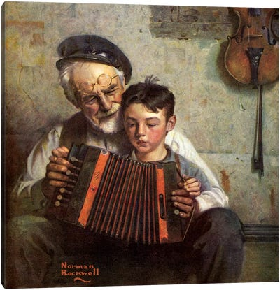 The Music Lesson Canvas Print #NRL120