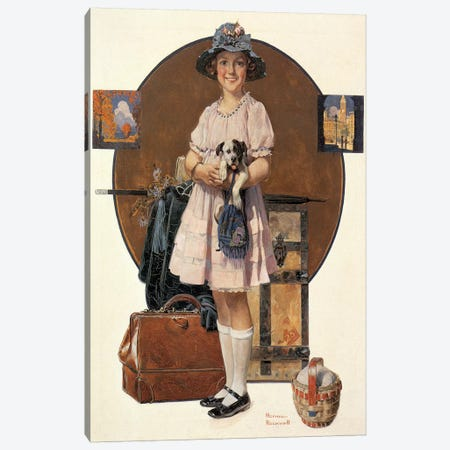 Vacation's Over Canvas Print #NRL121} by Norman Rockwell Canvas Wall Art
