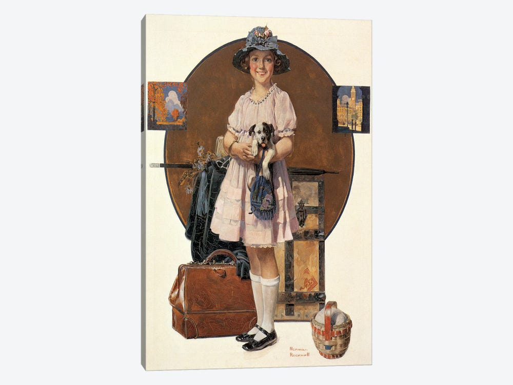 Vacation's Over by Norman Rockwell 1-piece Art Print