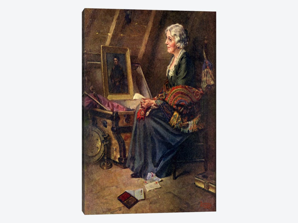 Woman Reading Love Letters in Attic by Norman Rockwell 1-piece Art Print