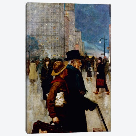 The Daily Good Turn  Canvas Print #NRL12} by Norman Rockwell Art Print