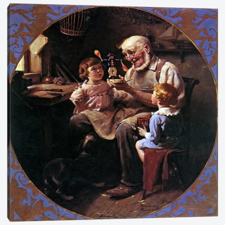 The Toy Maker Canvas Print #NRL132} by Norman Rockwell Canvas Print