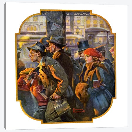 End of the Working Day Canvas Print #NRL133} by Norman Rockwell Canvas Print