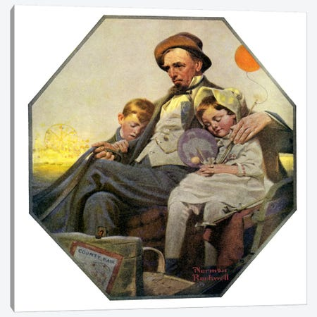 Home from the County Fair Canvas Print #NRL135} by Norman Rockwell Canvas Artwork