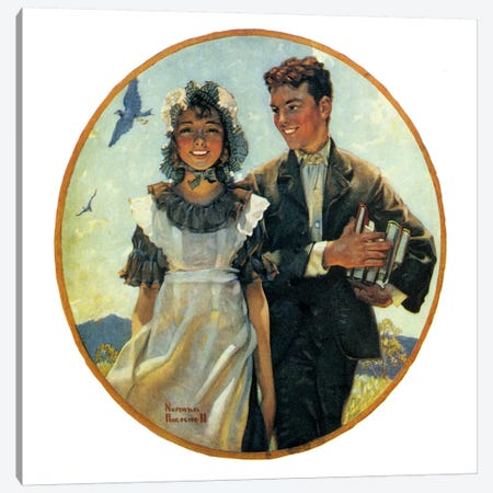 Vacation Canvas Print #NRL136} by Norman Rockwell Canvas Art