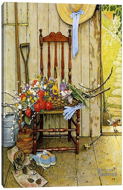 Spring Flowers by Norman Rockwell Art Print