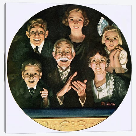 Topics of the Day Canvas Print #NRL143} by Norman Rockwell Canvas Wall Art