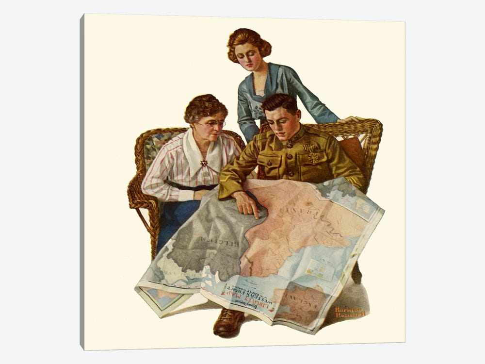 Taking Mother over the Top by Norman Rockwell 1-piece Art Print
