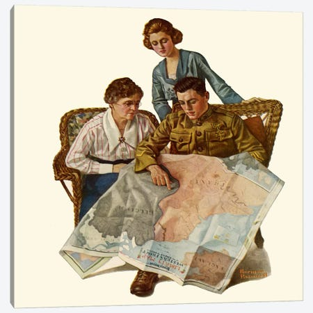 Taking Mother over the Top Canvas Print #NRL145} by Norman Rockwell Canvas Art Print
