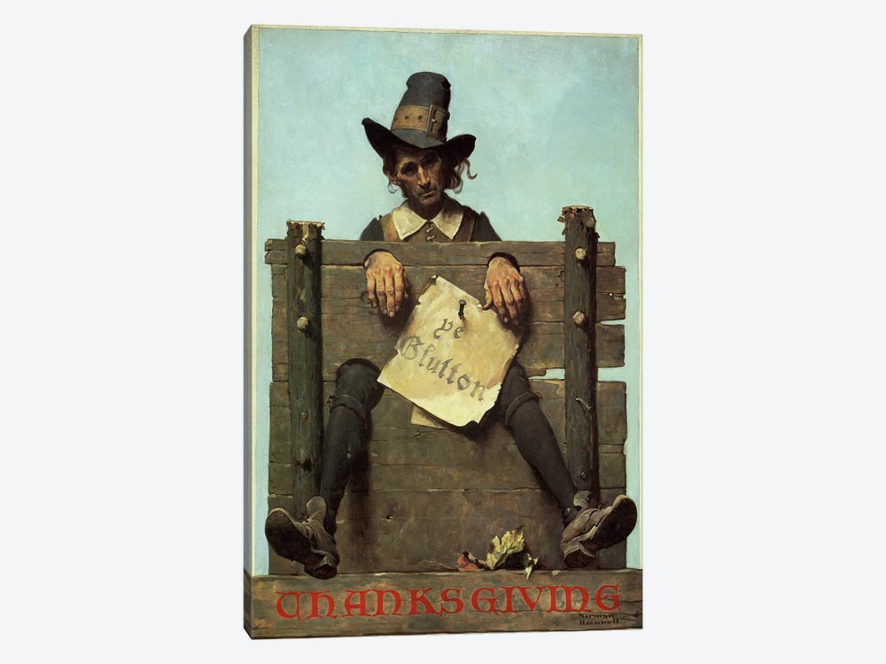 Thanksgiving-Ye Glutton 1-piece Canvas Art Print