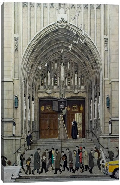 Lift Up Thine Eyes by Norman Rockwell Canvas Artwork