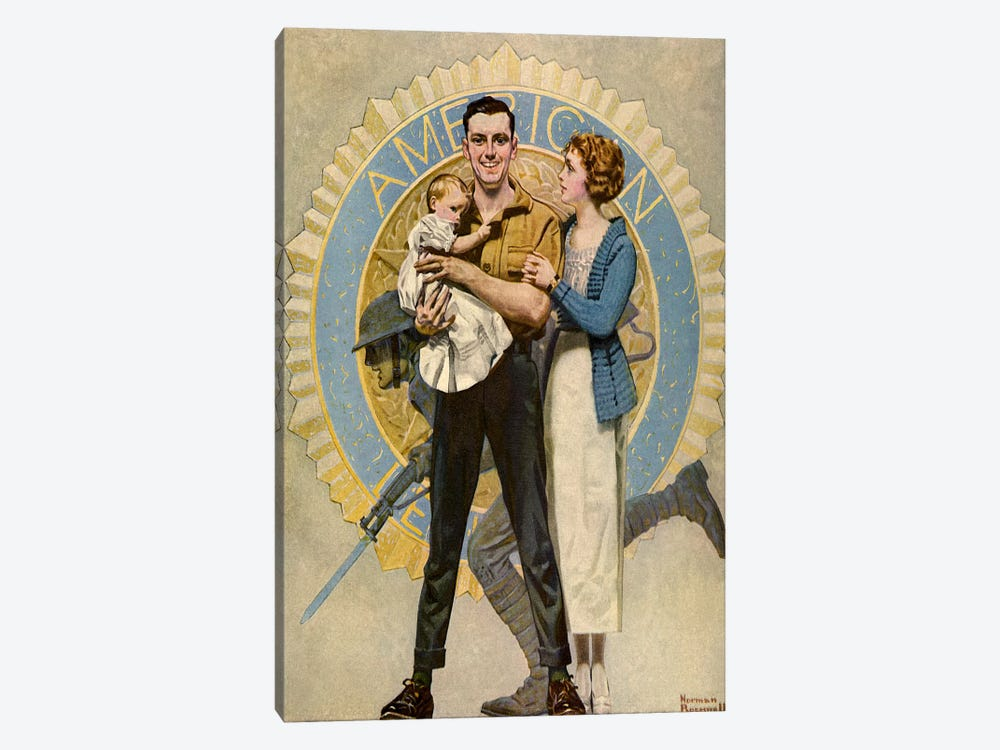 Carrying On by Norman Rockwell 1-piece Art Print