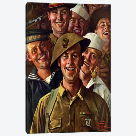 Are We Downhearted? Canvas Print #NRL153} by Norman Rockwell Canvas Print