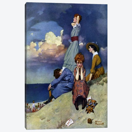 Till the Boys Come Home Canvas Print #NRL154} by Norman Rockwell Canvas Wall Art