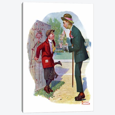 T'aint You Canvas Print #NRL155} by Norman Rockwell Canvas Art