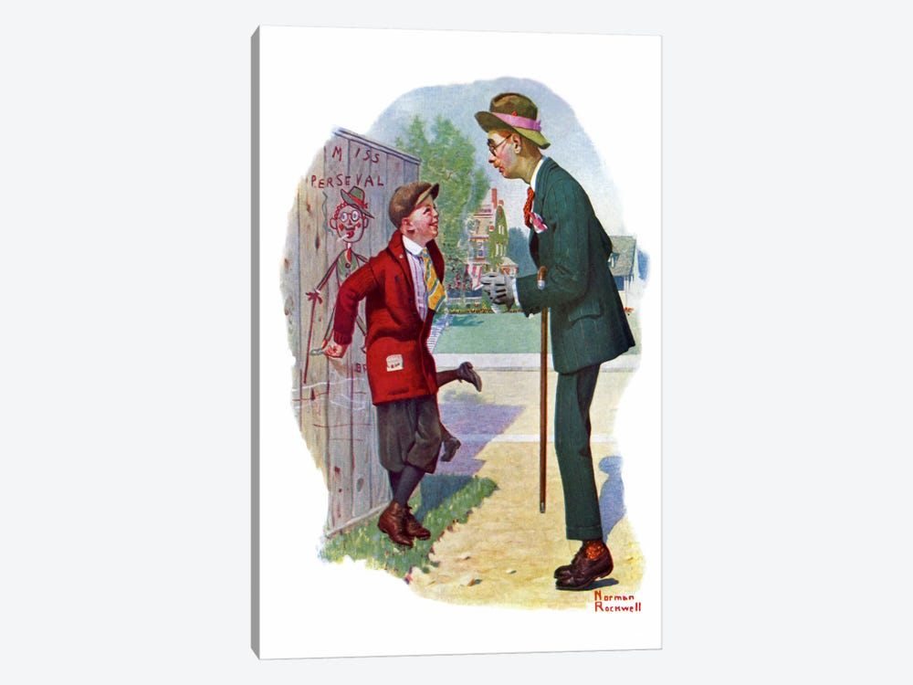 T'aint You by Norman Rockwell 1-piece Canvas Artwork