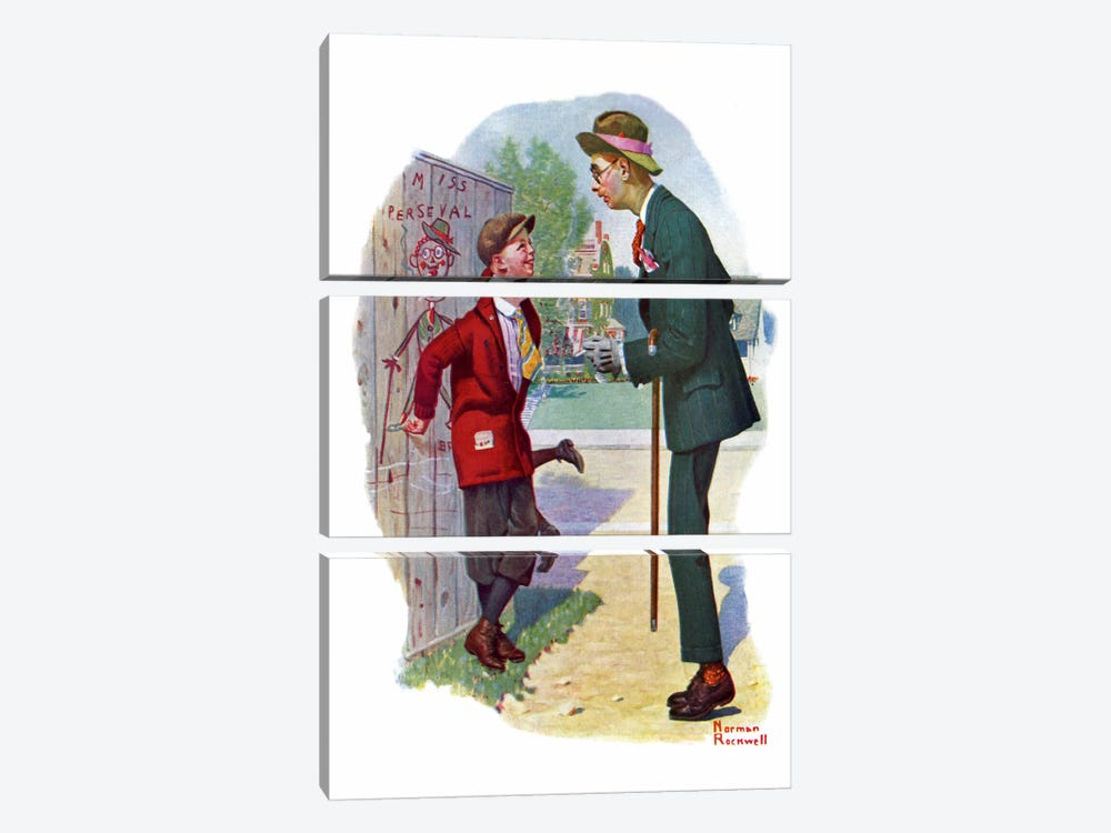T'aint You by Norman Rockwell 3-piece Canvas Art