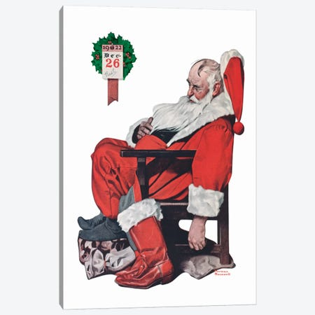 The Day after Christmas Canvas Print #NRL158} by Norman Rockwell Canvas Print
