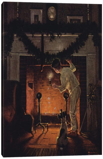 Is He Coming? by Norman Rockwell Canvas Art