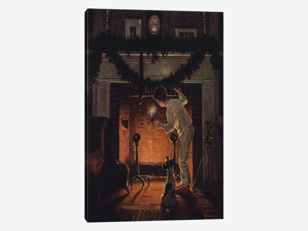 Is He Coming? by Norman Rockwell 1-piece Canvas Print