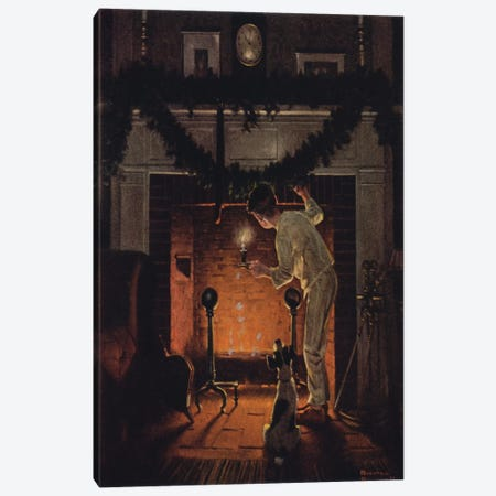 Is He Coming?  Canvas Print #NRL161} by Norman Rockwell Canvas Art