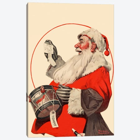 A Drum for Tommy Canvas Print #NRL163} by Norman Rockwell Canvas Artwork
