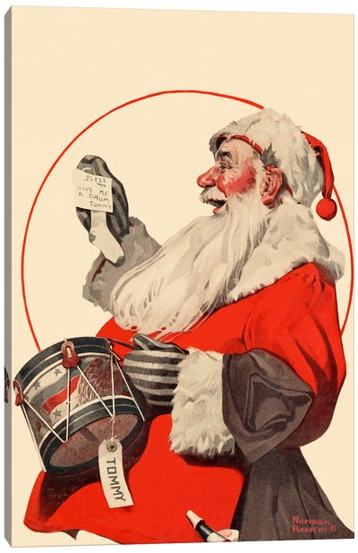 A Drum for Tommy by Norman Rockwell Canvas Artwork