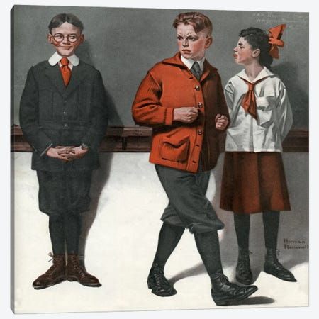 Spelling Bee Canvas Print #NRL168} by Norman Rockwell Canvas Artwork