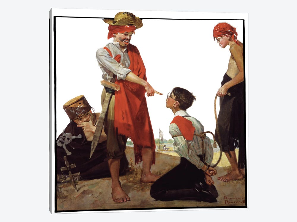 Cousin Reginald Plays Pirates by Norman Rockwell 1-piece Canvas Art Print