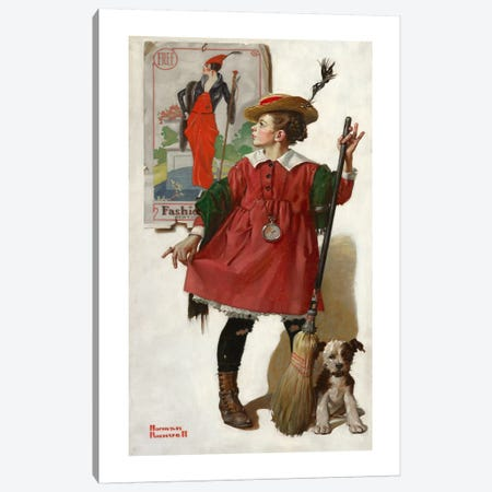 The Little Model #2 Canvas Print #NRL176} by Norman Rockwell Canvas Artwork