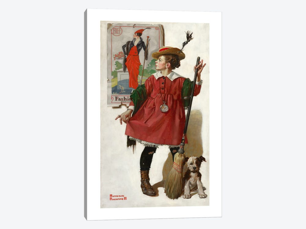 The Little Model #2 by Norman Rockwell 1-piece Art Print