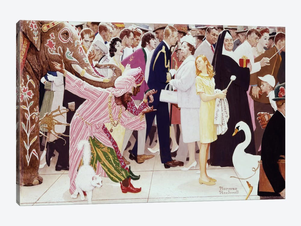 The Saturday People by Norman Rockwell 1-piece Canvas Art Print