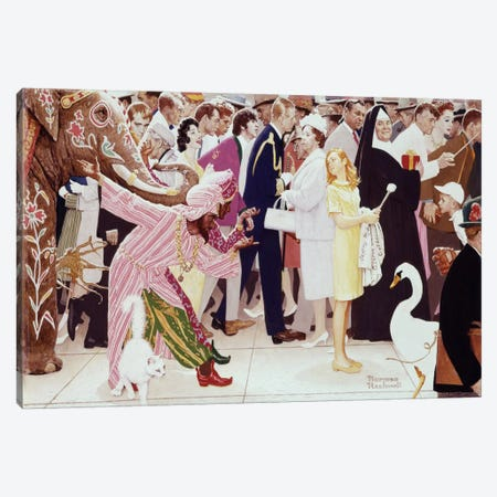 The Saturday People Canvas Print #NRL17} by Norman Rockwell Canvas Art
