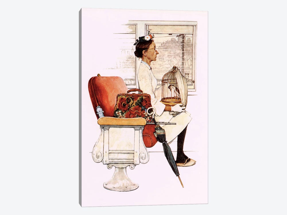 Willie Was Different 'He and Miss Polly were settled aboard' by Norman Rockwell 1-piece Canvas Art Print