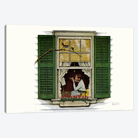Willie Was Different 'The lady was Miss Polly' Canvas Print #NRL184} by Norman Rockwell Canvas Art Print