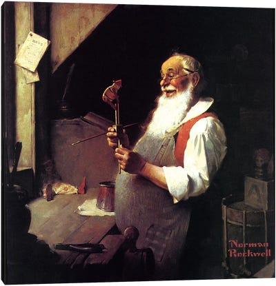 Santa's Workshop Canvas Print #NRL190
