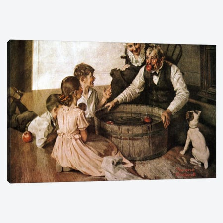 Valspar Is Hallowe'en-Proof Canvas Print #NRL193} by Norman Rockwell Art Print
