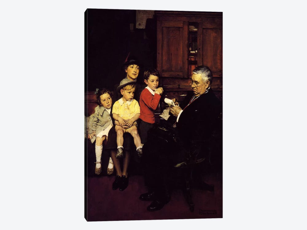 When the Doctor Treats Your Child by Norman Rockwell 1-piece Art Print