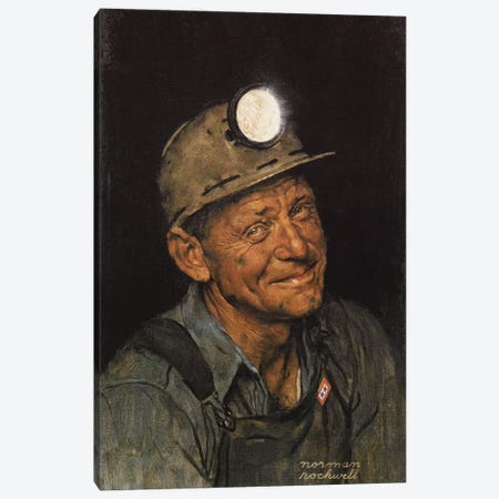 Mine America's Coal Canvas Print #NRL201} by Norman Rockwell Art Print