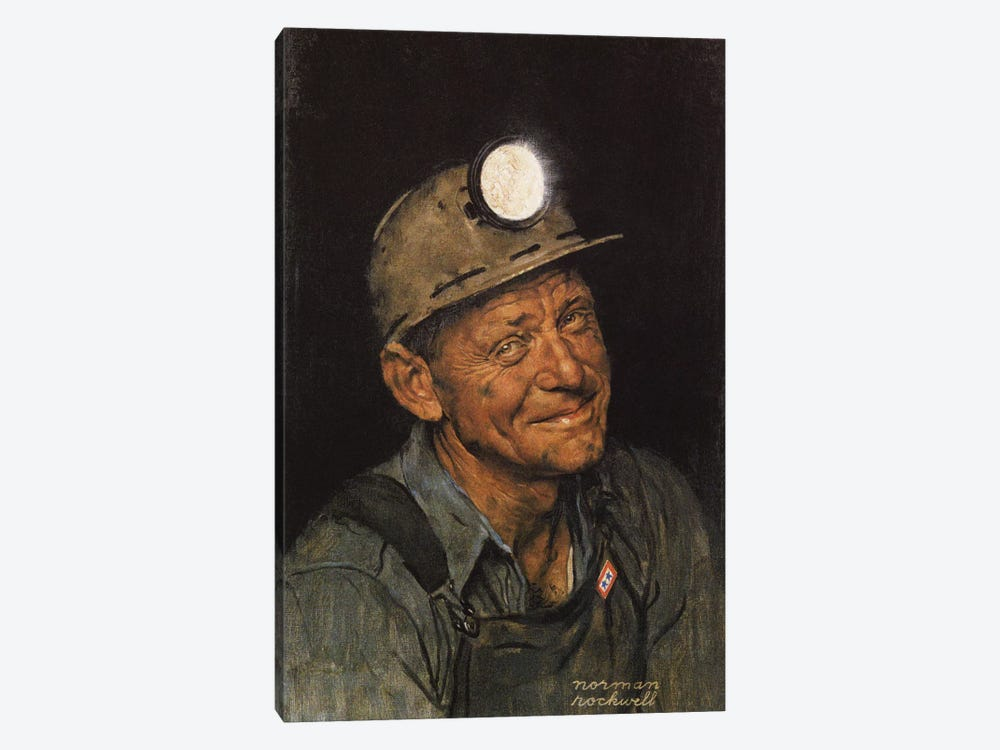 Mine America's Coal by Norman Rockwell 1-piece Canvas Print