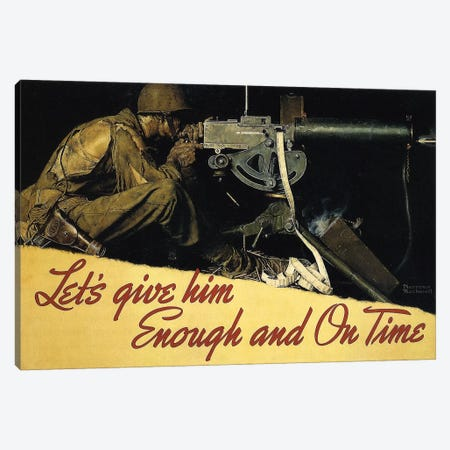 Let's Give Him Enough and on Time Canvas Print #NRL202} by Norman Rockwell Art Print
