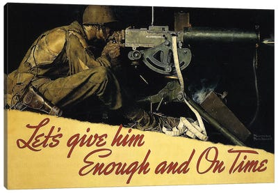 Let's Give Him Enough and on Time by Norman Rockwell Art Print