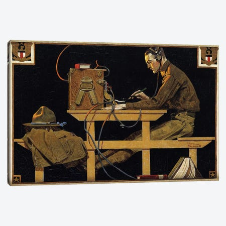The U.S. Army Teaches Trades Canvas Print #NRL203} by Norman Rockwell Canvas Print