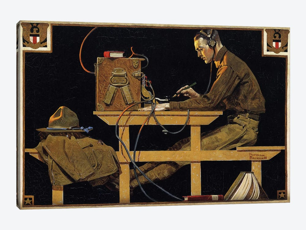 The U.S. Army Teaches Trades by Norman Rockwell 1-piece Art Print