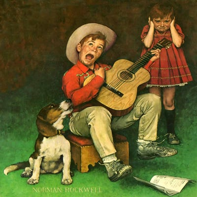 The Music Man Art Print By Norman Rockwell Icanvas