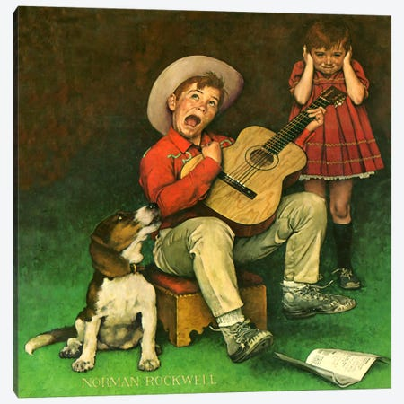 The Music Man Canvas Print #NRL211} by Norman Rockwell Canvas Art