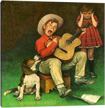 The Music Man by Norman Rockwell Canvas Art